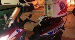 اللد: إصابة خطيرة لرجل بانفجار مركبة