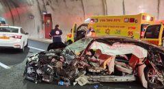 4 اصابات احداها حرجة بحادث طرق مروع على شارع 6 قرب يوكنعام