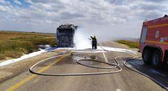 اندلاع حريق في شاحنة جنوب البلاد