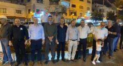 إضاءة الشموع على دوار  الشهداء في سخنين  احياء لذكرى هبة القدس والأقصى