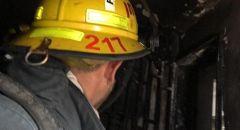 نهاريا: تخليص ٤ عالقين جراء حريق شب في شقة سكنية