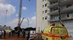 إصابة عامل بورشة بناء في بني براك