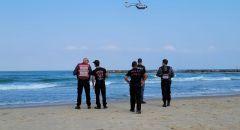 اعمال بحث عن شخص فقدت اثاره في شاطئ يروشلايم في يافا