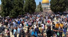 70 ألف مصلٍ بالمسجد الاقصى في جمعة رمضان الأولى