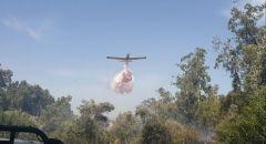 اندلاع حريق في احراش بالقرب من وادي عارة