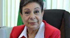 إصابة عضو اللجنة التنفيذية لمنظمة التحرير الفلسطينية د. حنان عشراوي بفيروس كورونا