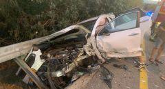 إصابة شخص بجراح خطيرة في حادث طرق على مفرق ألونيم