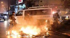 اعتقالات بشبهة القاء حجارة صوب الشرطة واضرام نيران في احتجاجات يافا