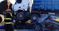 مصرع الشاب صابر موسى أبو تكفة من رهط في حادث طرق بين شاحنة وسيارة خصوصية