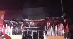 اندلاع حريق في محل لبيع مواد البناء في الزرازير