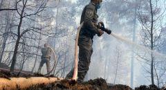تجدد الحريق في جبال القدس واستنفار الاطفاء