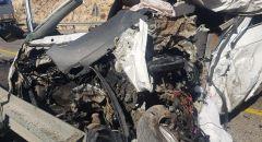 مصرع رجل واصابات  جراء حادث طرق  على شارع 60 قرب الضفة الغربية