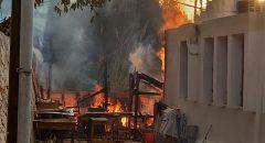 اندلاع حريق في منطقة مفتوحة قرب المنازل بمدينة حيفا