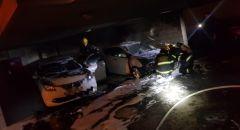 اندلاع حريق بسيارتين تحت عمارة سكنية في حيفا
