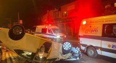 اصابتان جراء حادث طرق خطير على شارع 70 داخل كفرياسيف