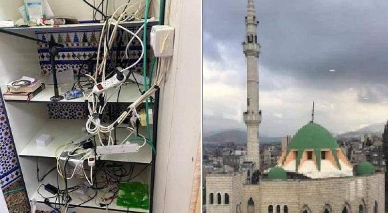 سخنين: إلقاء القبض على سارق منظومة الصوت من مسجد أبو بكر والعائلة تعتذر
