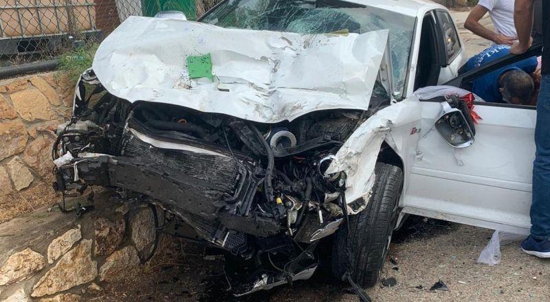 حادث طرق على مفرق عيلبون