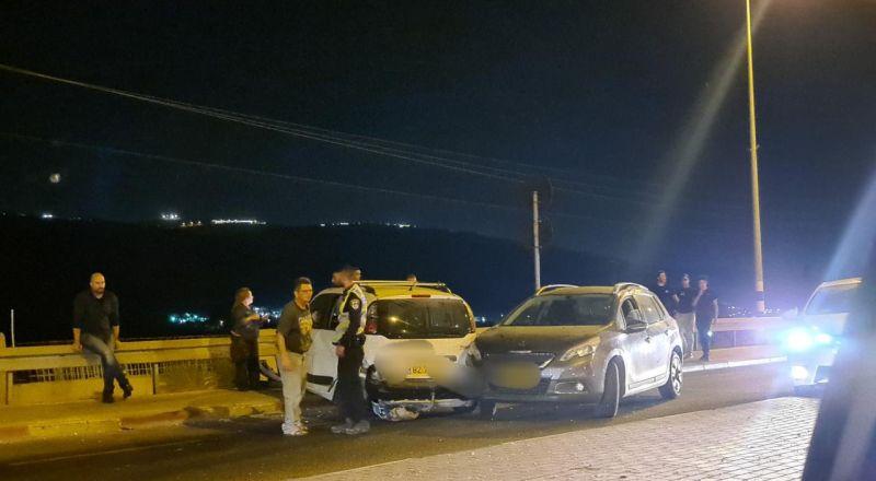 الرامة: حادث طرق بين مركبتين على المدخل الغربي