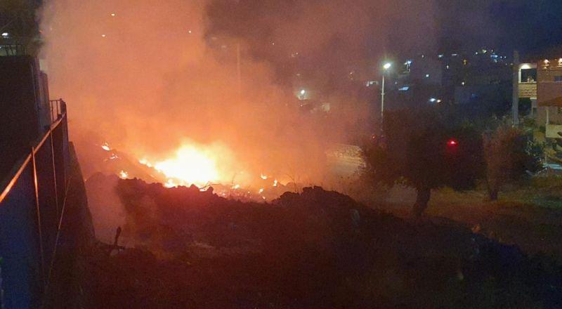 الرامة: إندلاع النيران بجانب منطقة سكنية