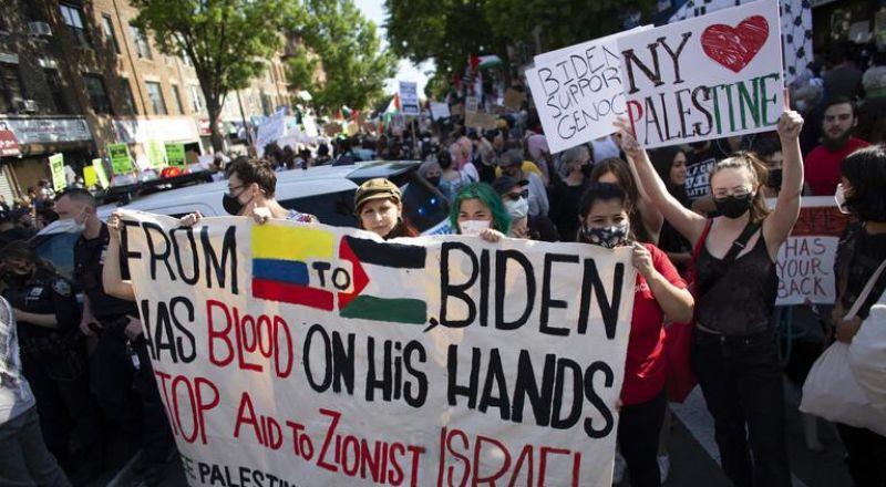 الولايات المتحدة.. مظاهرات مؤيدة للفلسطينيين تناشد بايدن بالتوقف عن دعم إسرائيل
