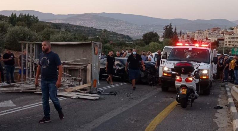 اصابات في حادث طرق على مفرق عيلبون