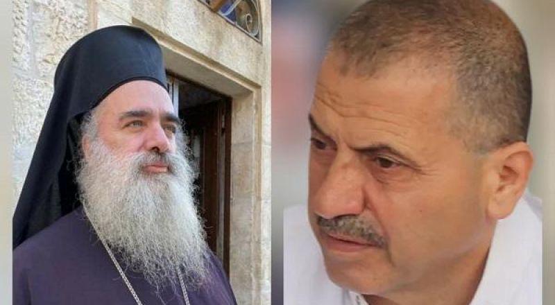 سيادة المطران عطا الله حنا:  نتمنى الشفاء السريع للدكتور سليمان اغبارية الذي تعرض لاطلاق الرصاص