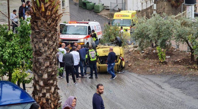 سخنين: اصابة سيدة(55 عاما) بجراح اثر انقلاب سيارة