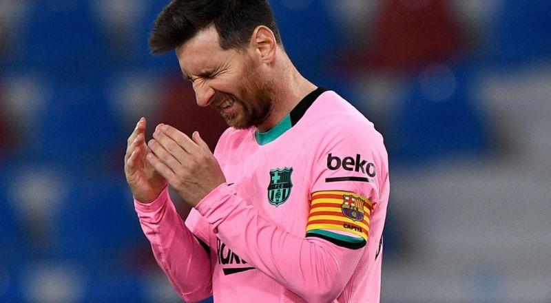 رد فعل ميسي بعد تعثر برشلونة أمام ليفانتي
