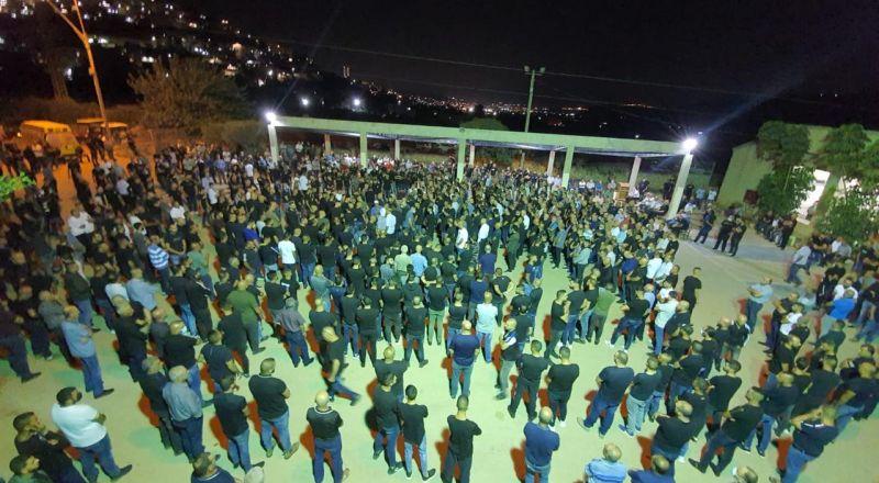 دير حنا : المئات يشاركون في تشييع جثمان الشاب جهاد حمود