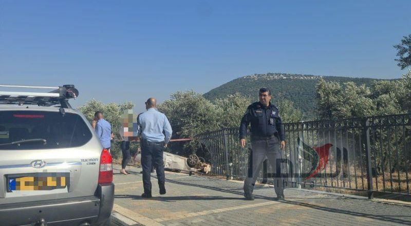 مصرع شابه ٢٠ عامًا من ابو سنان في حادث طرق ذاتي عند مدخل قرية ساجور