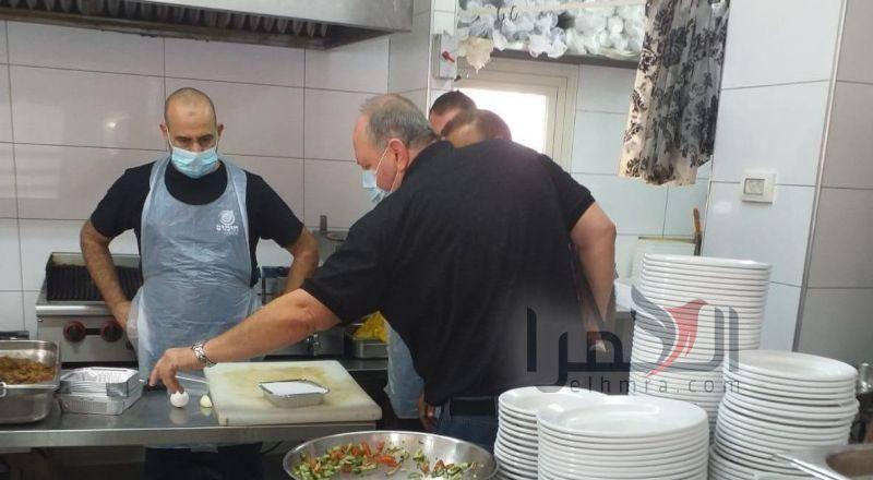 جولة ميدانية  تفقدية  للمطاعم في سخنين
