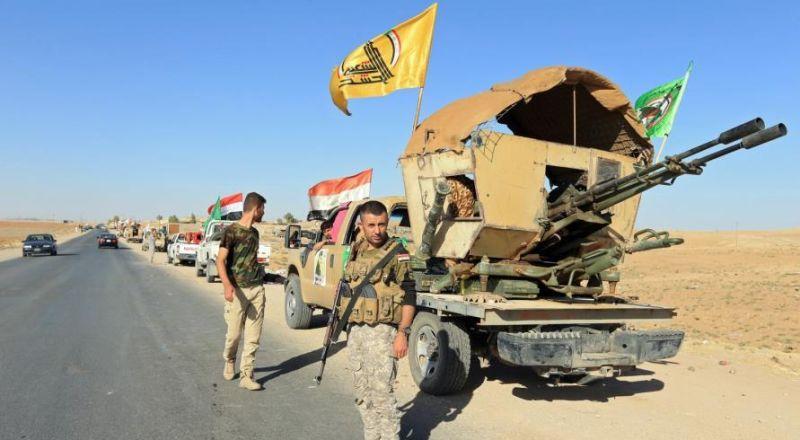 """مدفعية الحشد الشعبي تقصف مواقع لـ""""داعش"""" شمالي العراق"""