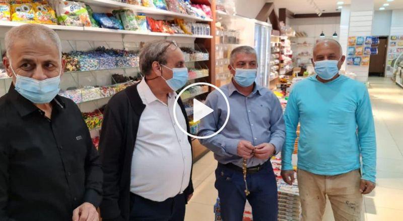 بلدية سخنين واللجنة الشعبية بجولة ميدانية في المحلات التجارية بالمدينة