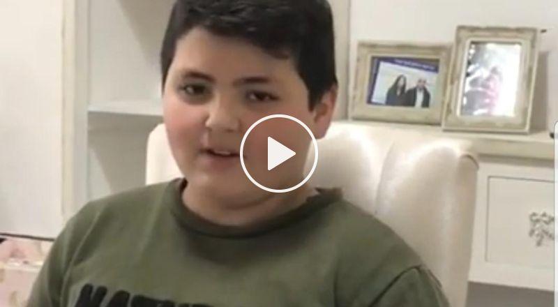 الرامة: الطفل الرائع مروان نادر فارس ابن الثامنة يهدي شعراً من تأليفه لأولاد صفه