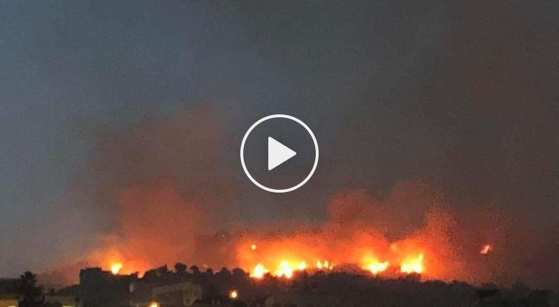 إندلاع حريق هائل في أحراش قرب المغار