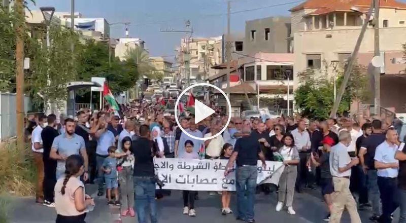 انطلاق المسيرة القطرية لإحياء ذكرى هبة القدس والاقصى الـ21  في مدينة سخنين